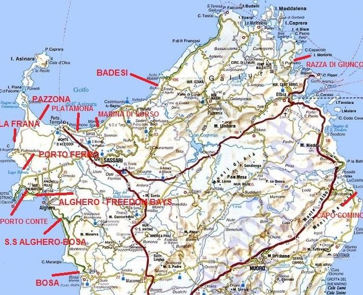 Cartina Spiagge Sardegna Nord.Sardegna Meta Ideale Per I Nudisti Le Spiagge Top