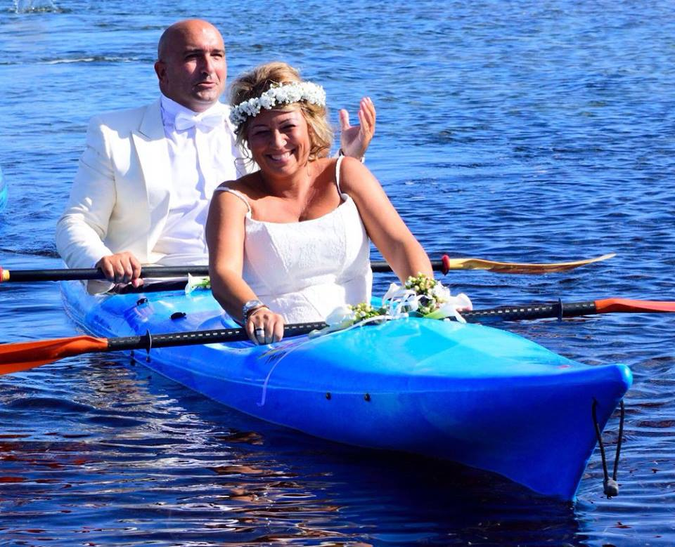 *Video* Matrimonio in kayak per Francesco Gambella e Nicoletta Pruneddu